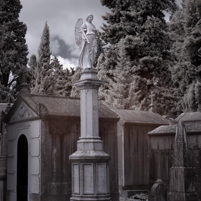 Het standbeeld van de begraafplaatsengel royalty-vrije stock fotografie