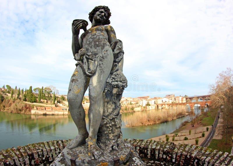 Het Standbeeld van de Kunst van de renaissance in de Franse Stad van Albi royalty-vrije stock fotografie