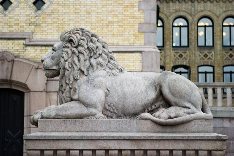 Het Standbeeld van de leeuw royalty-vrije stock foto
