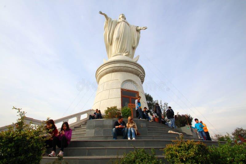 Het Standbeeld van de madonna stock foto's