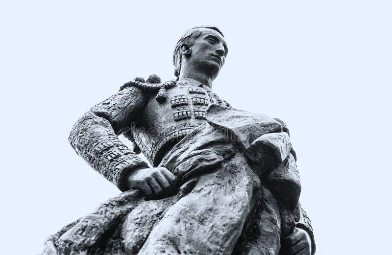 Het standbeeld van de Manoletestierenvechter, Spanje royalty-vrije stock fotografie