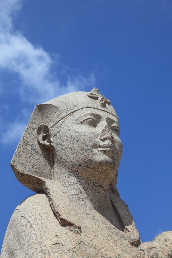 Het standbeeld van de sfinx van de pijler van Pompey royalty-vrije stock afbeeldingen