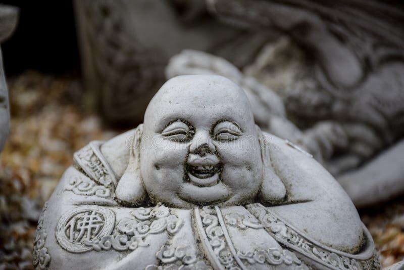 Het standbeeld van de steen van Boedha stock foto