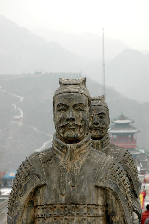 Het standbeeld van de strijder stock foto's