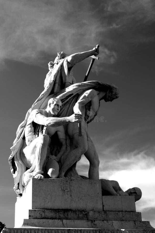 Het Standbeeld van Della Patria van Altare stock foto's