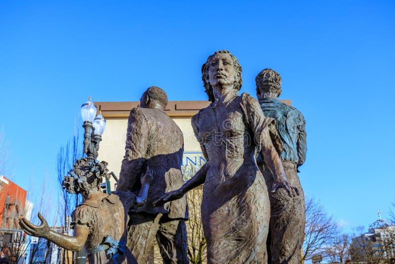 Het standbeeld van het Droombrons voor Oregon Convention Center, royalty-vrije stock foto's