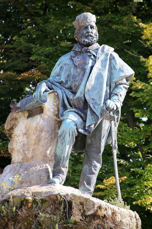 Het standbeeld van Garibaldi stock fotografie