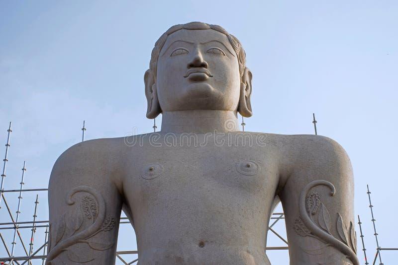 Het standbeeld van Gommattesvarabahubali Gedateerd 978-993 Shravanabelagola stock foto's