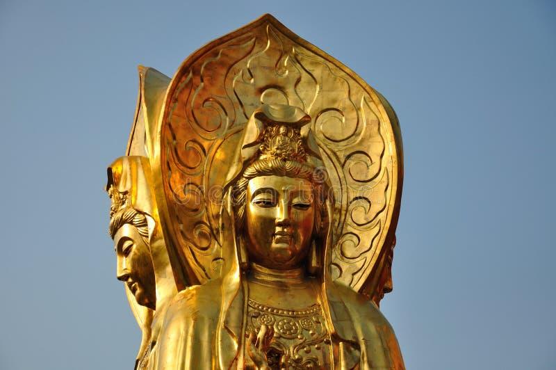 Het Standbeeld van Guanyinboedha stock foto's