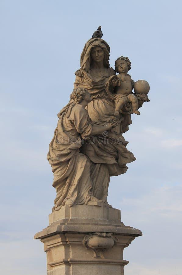 Het standbeeld van heilige Anna stock fotografie