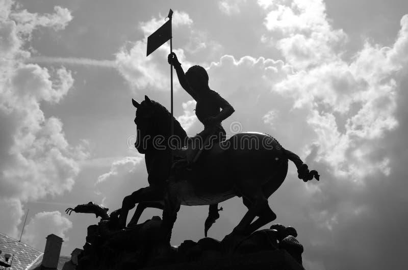 Het standbeeld van heilige George royalty-vrije stock afbeeldingen