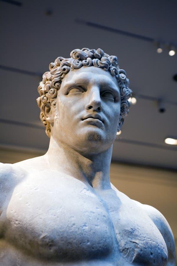 Het standbeeld van hercules stock afbeelding