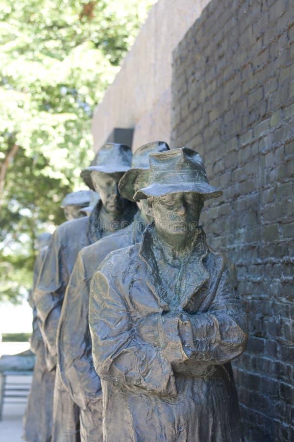Het standbeeld van het brons van depressielijn stock fotografie