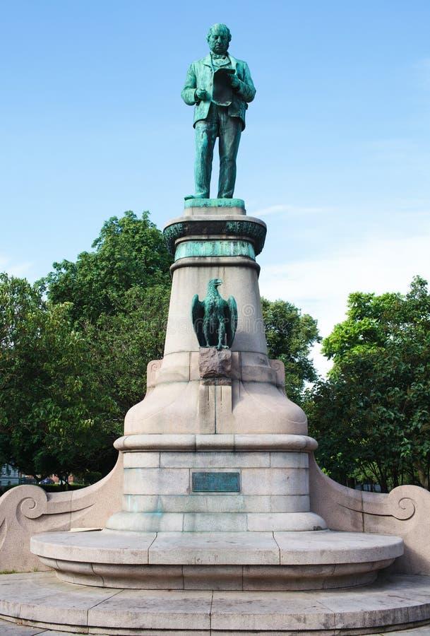 Het standbeeld van het brons van uitvinder John Ericsson in Gothenburg, Zweden royalty-vrije stock foto