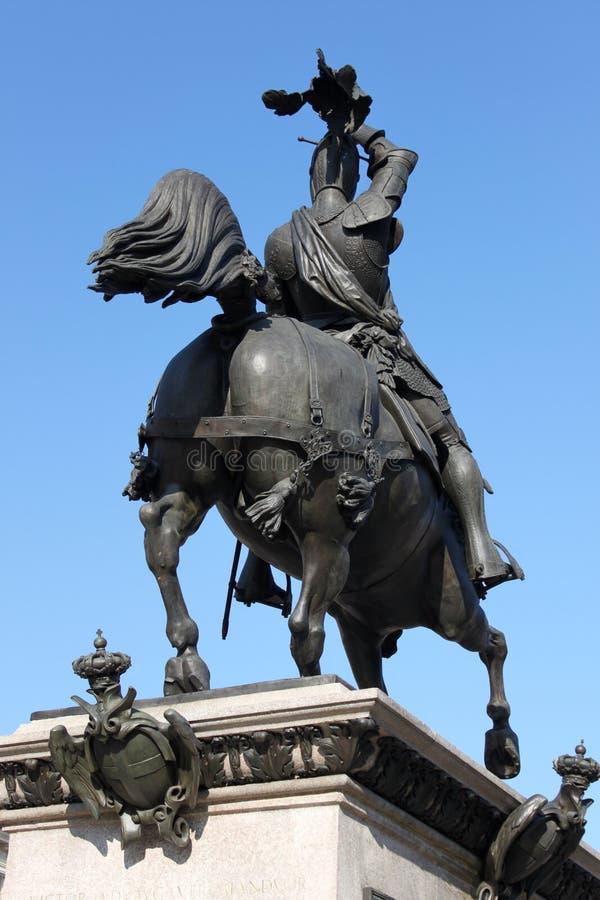Het standbeeld van het ijzer stock fotografie