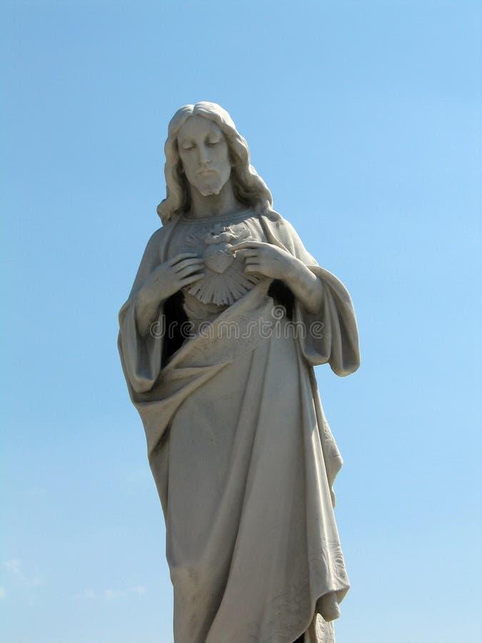 Het standbeeld van Jesus stock foto's