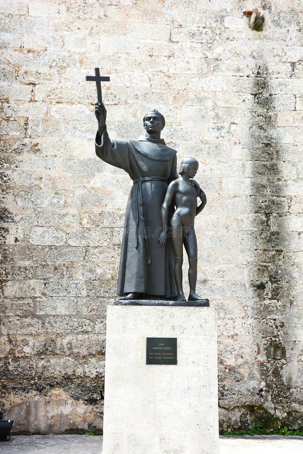 Het Standbeeld van Junipero Serra van de vader stock afbeeldingen