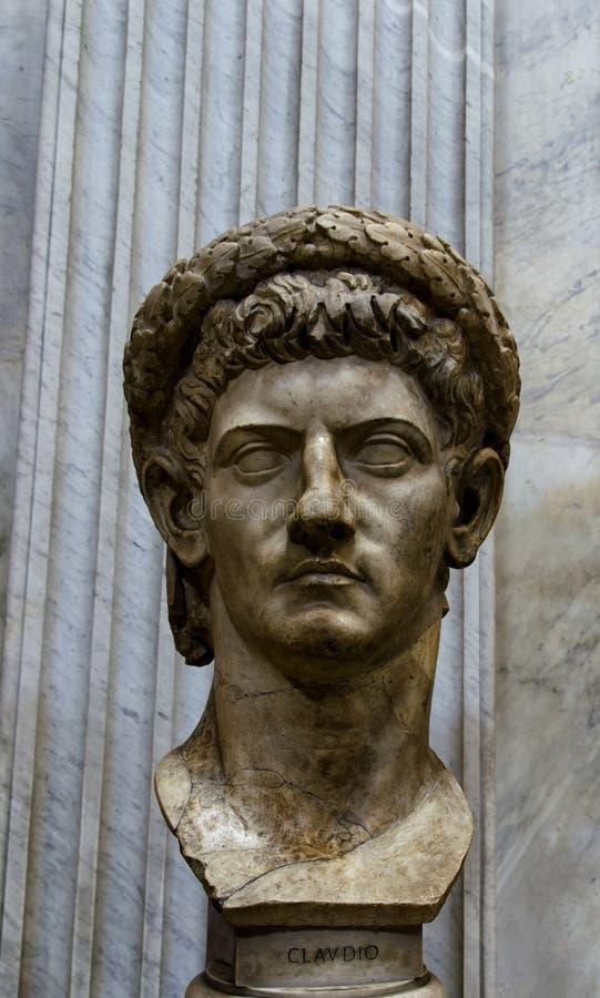 Het standbeeld van keizerclaudius head royalty-vrije stock foto