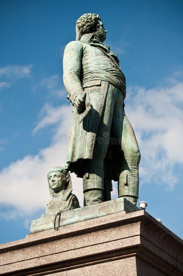 Het standbeeld van Kleber in Straatsburg stock fotografie