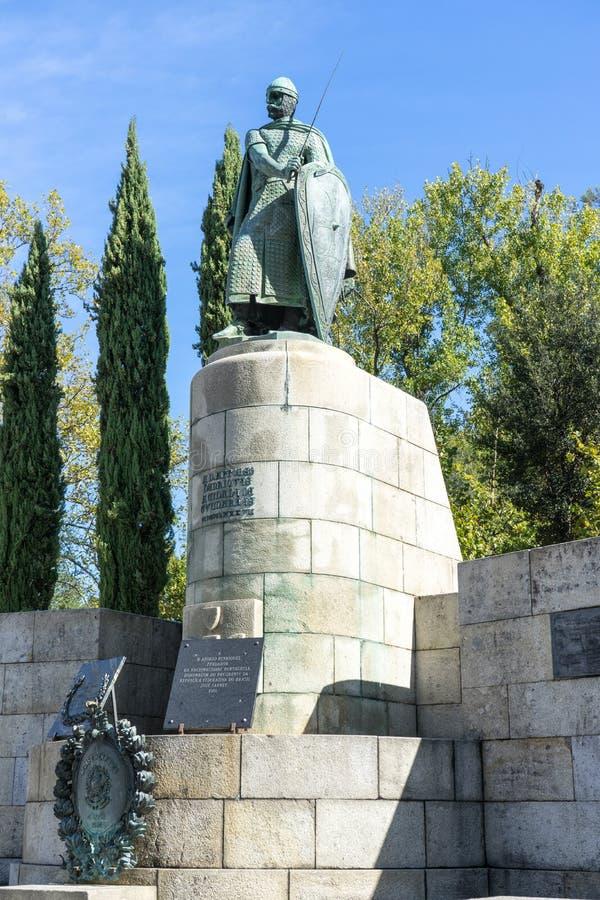 Het standbeeld van koningsAlfonsa stock afbeeldingen
