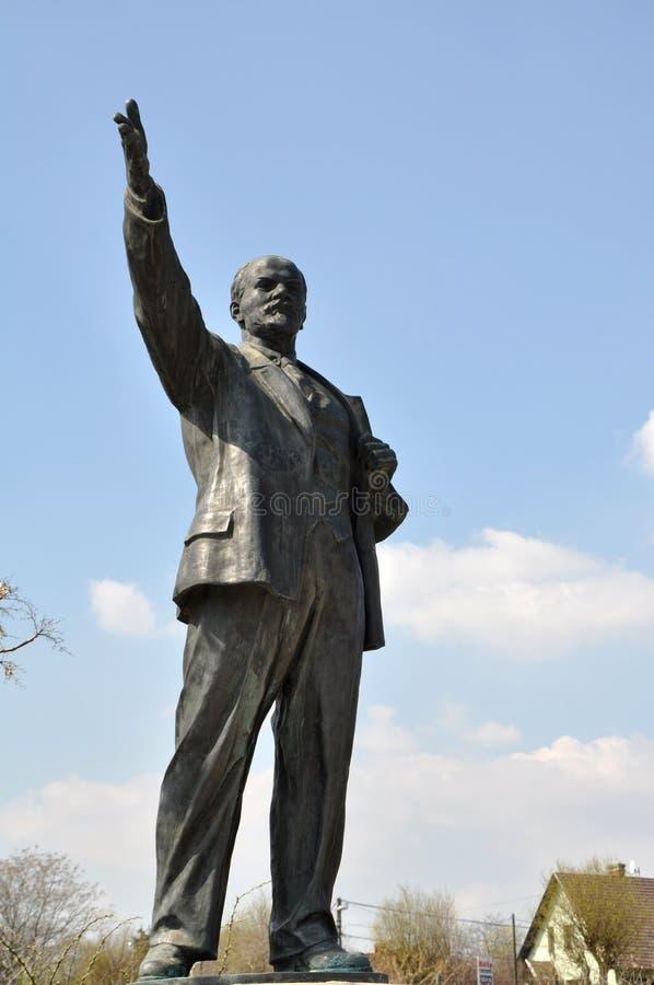 Het standbeeld van Lenin in Boedapest stock foto's