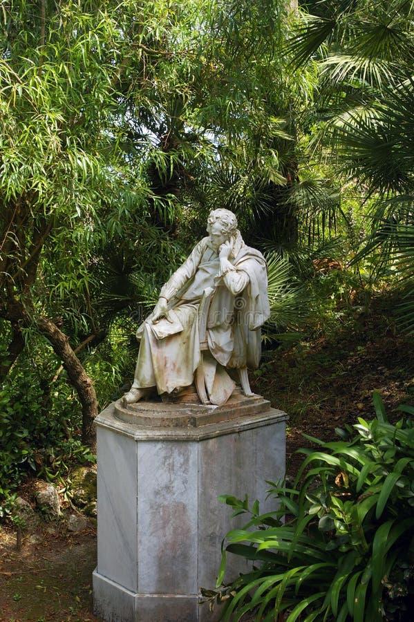 Het standbeeld van Lord Byron. stock foto's