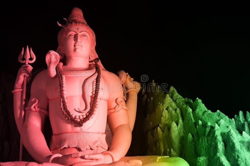 Het Standbeeld van Lord Shiva in Murugeshpalya, Bangalore, India stock afbeelding