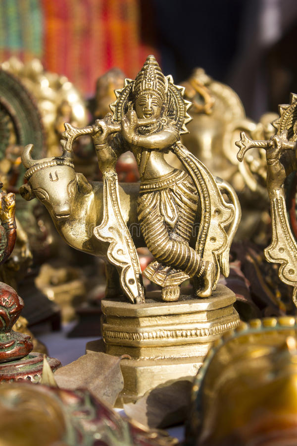 Het standbeeld van Lordkrishna royalty-vrije stock afbeelding