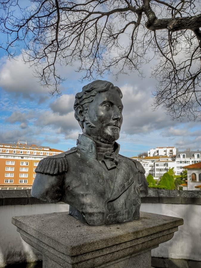 Het Standbeeld van luitenant-Algemeen Sir John Moore royalty-vrije stock fotografie