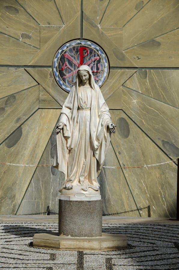 Het standbeeld van Maagdelijke Mary, Nazareth stock foto's