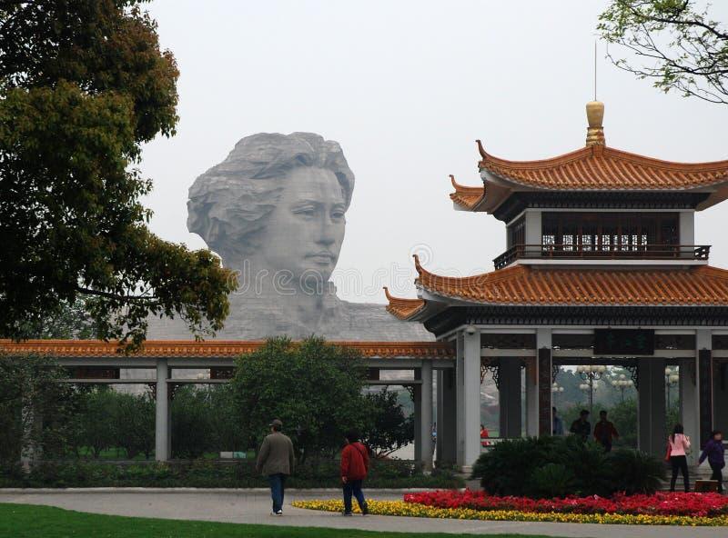 Het standbeeld van Mao Zedong stock foto