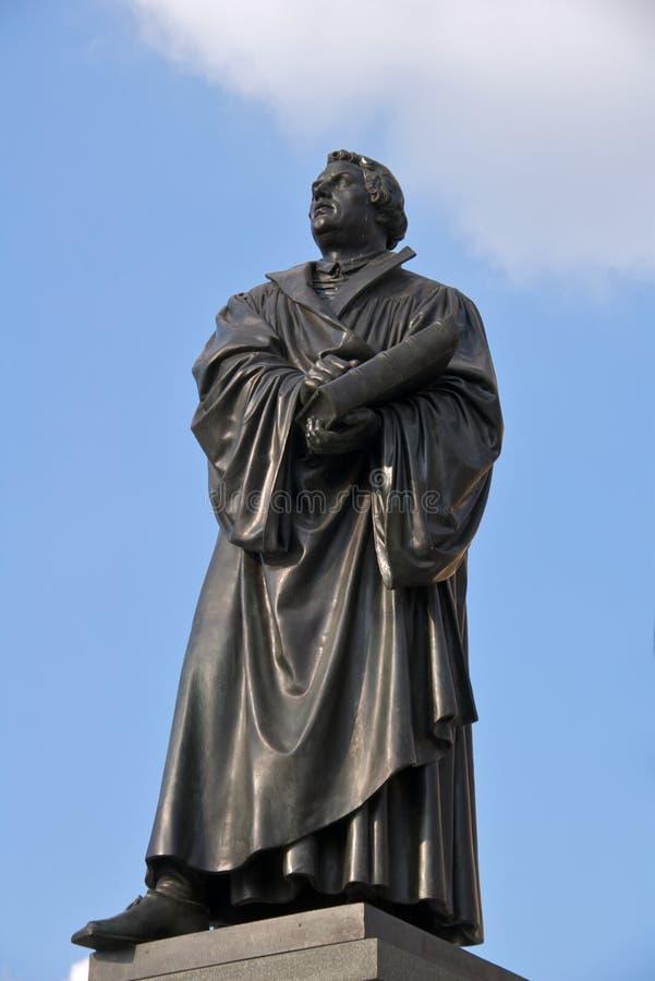 Het standbeeld van Martin Luther stock fotografie