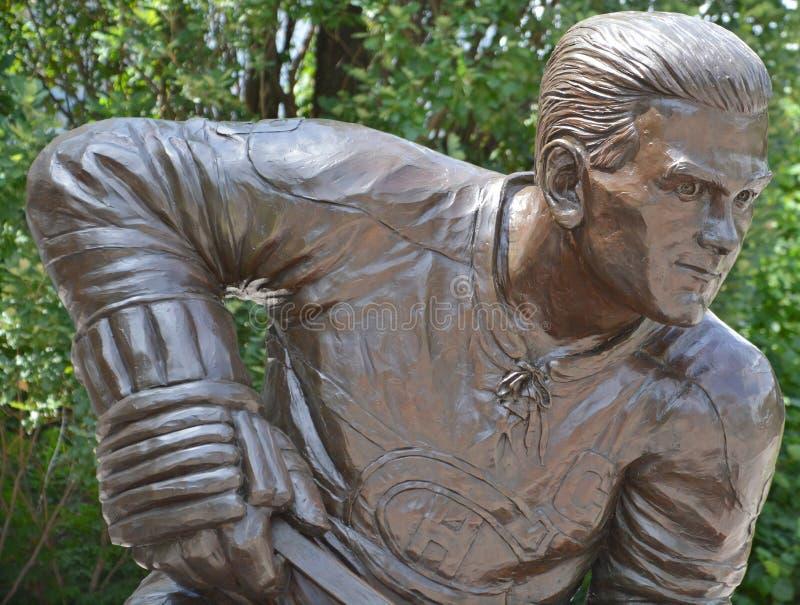 Het standbeeld van Maurice Rocket Richard, stock foto