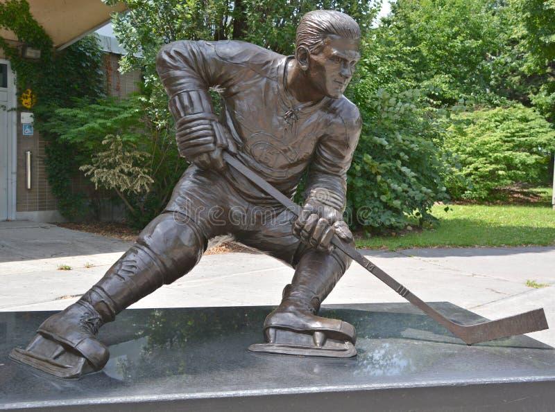 Het standbeeld van Maurice Rocket Richard, stock fotografie
