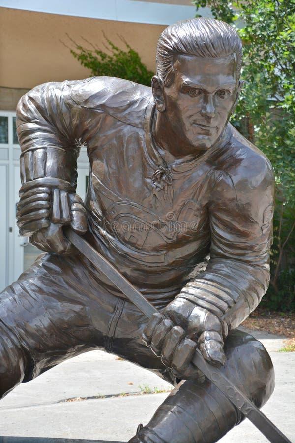 Het standbeeld van Maurice Rocket Richard, royalty-vrije stock foto