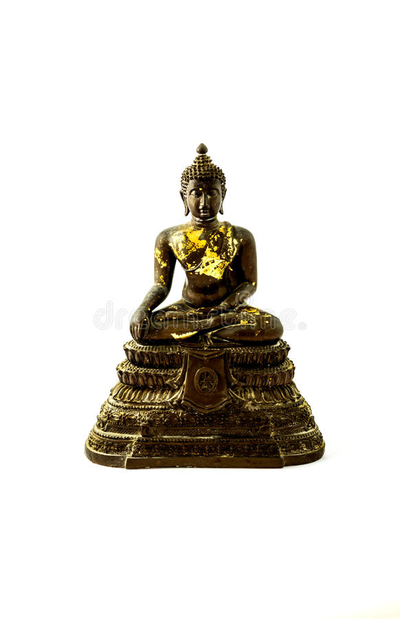 Het standbeeld van metaalboedha stock foto's