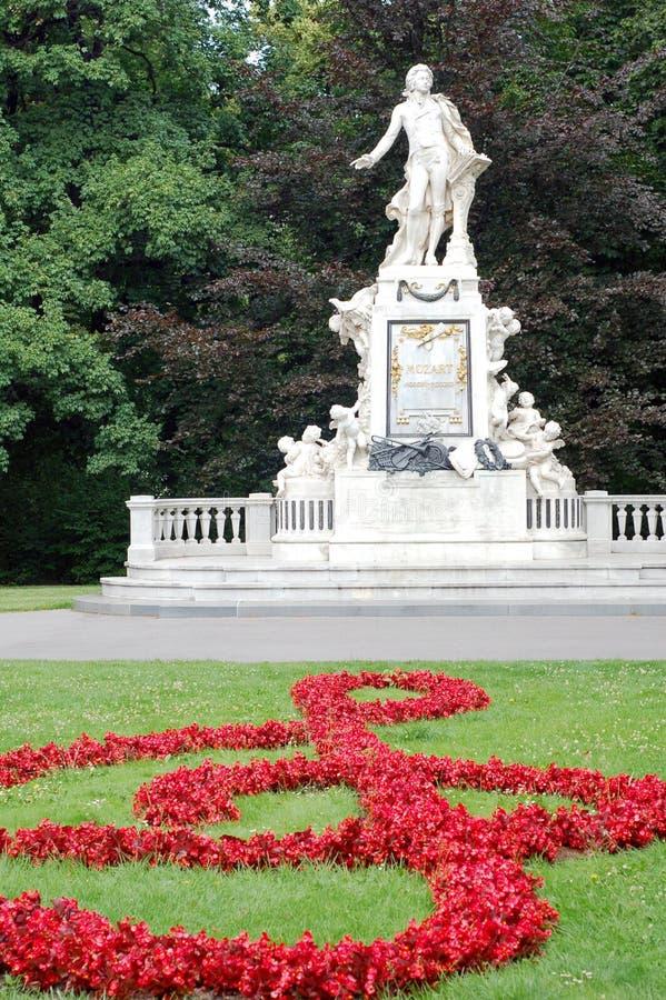 Het Standbeeld van Mozart stock afbeeldingen