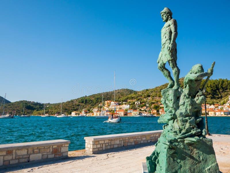 Het standbeeld van Odysseus stock afbeeldingen