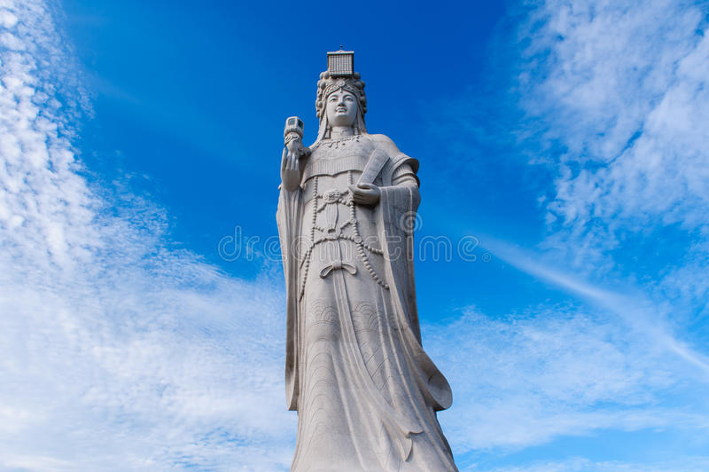 Het standbeeld van overzeese god, matsu stock foto's
