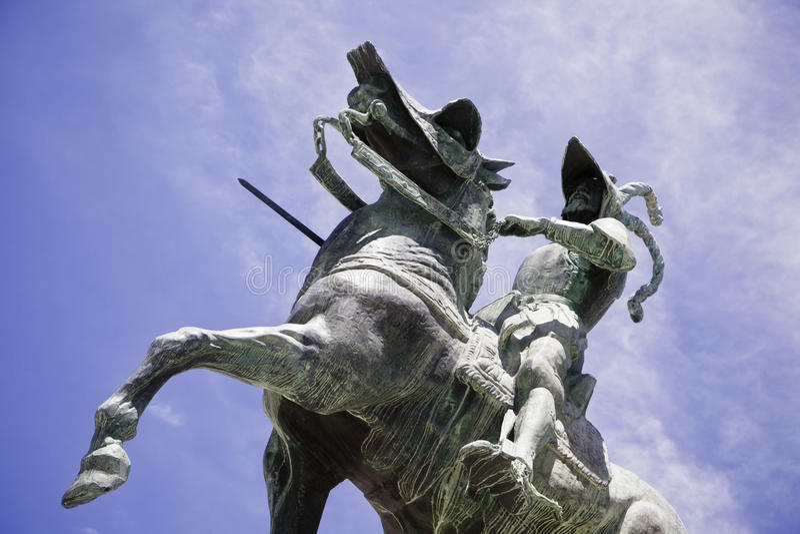 Het standbeeld van Pizarro royalty-vrije stock afbeelding