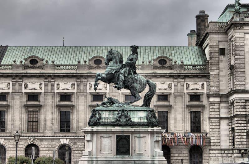 Het standbeeld van prinsEugene in Wenen royalty-vrije stock fotografie