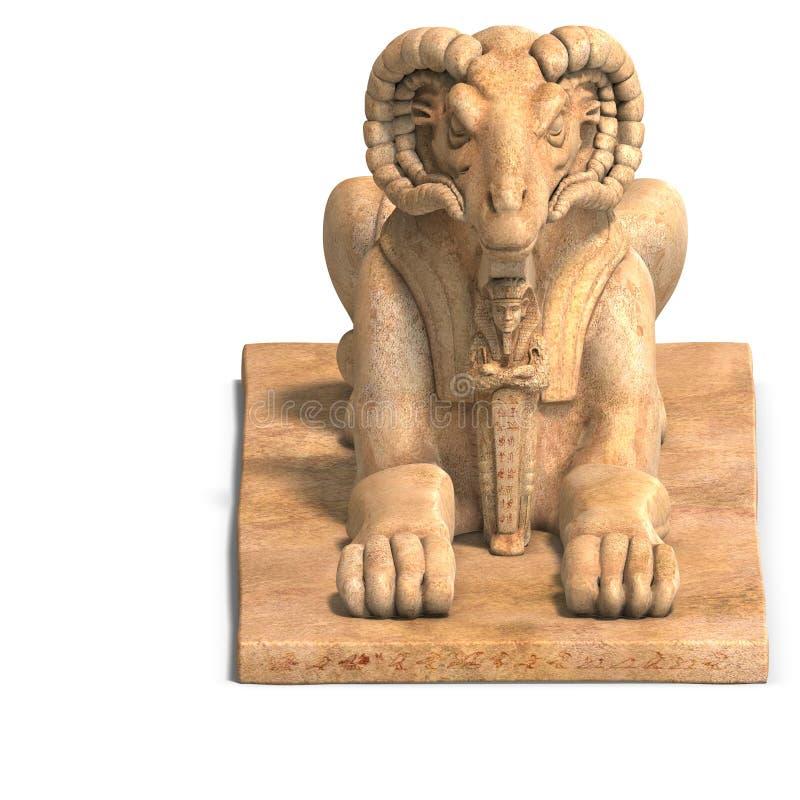 Het standbeeld van Ramses royalty-vrije illustratie