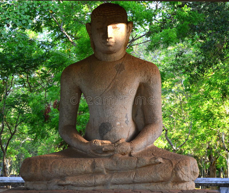 Het Standbeeld van Samadiboedha, Sri Lanka stock afbeelding