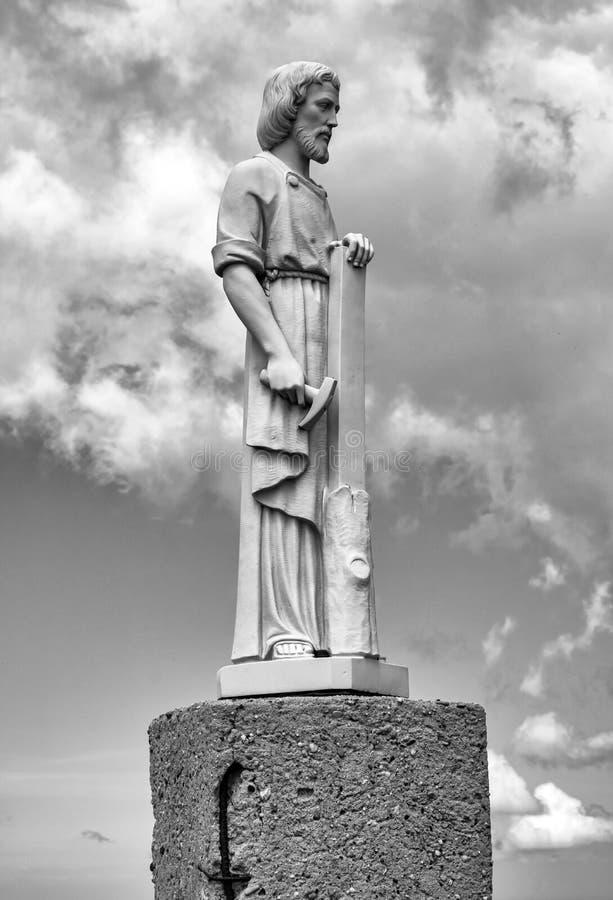 Het standbeeld van San Giuseppe De Zwart-witte foto van Peking, China stock afbeeldingen