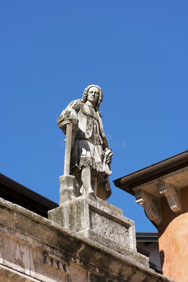 Het Standbeeld van Scipionemaffei - Verona Italy stock afbeeldingen