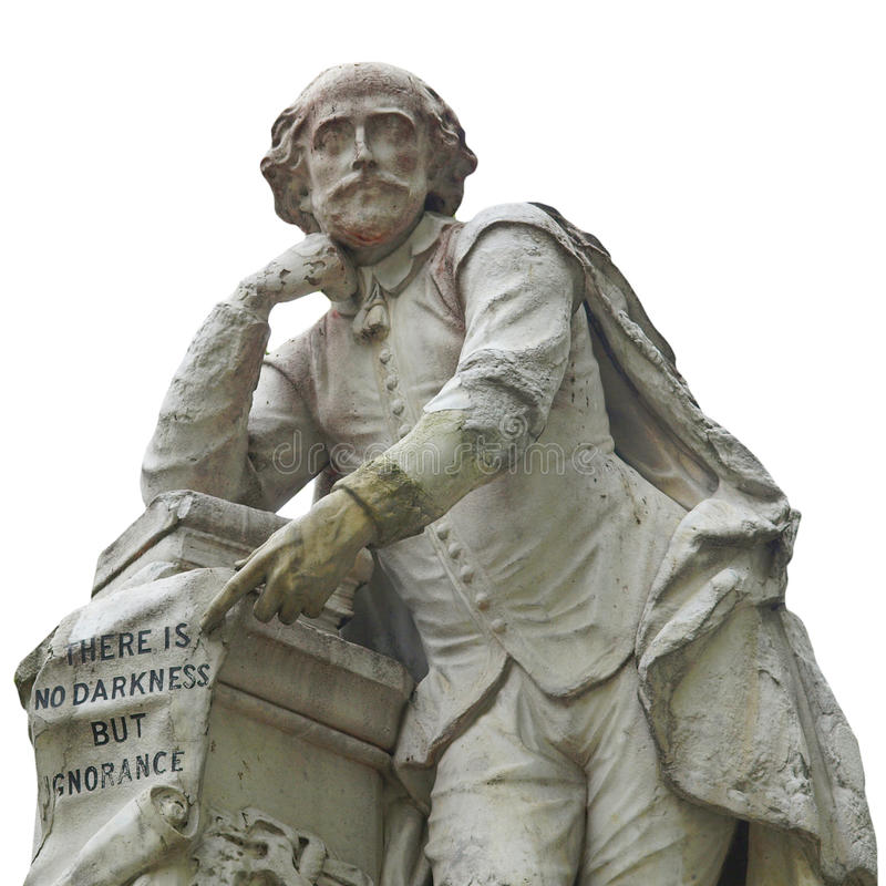 Het standbeeld van Shakespeare stock afbeelding