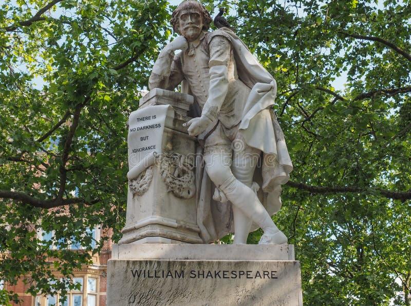 Het standbeeld van Shakespeare in Londen royalty-vrije stock foto's