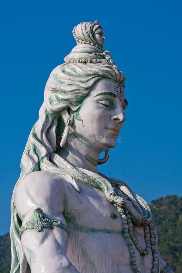 Het standbeeld van Shiva in India stock afbeelding