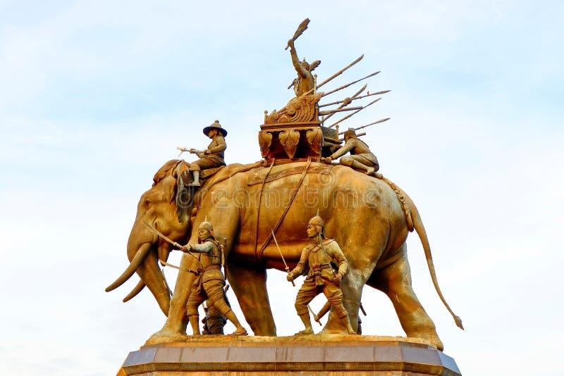Het standbeeld van Thaise Koning, maakt toekomstige generaties het goed herinneren stock afbeelding