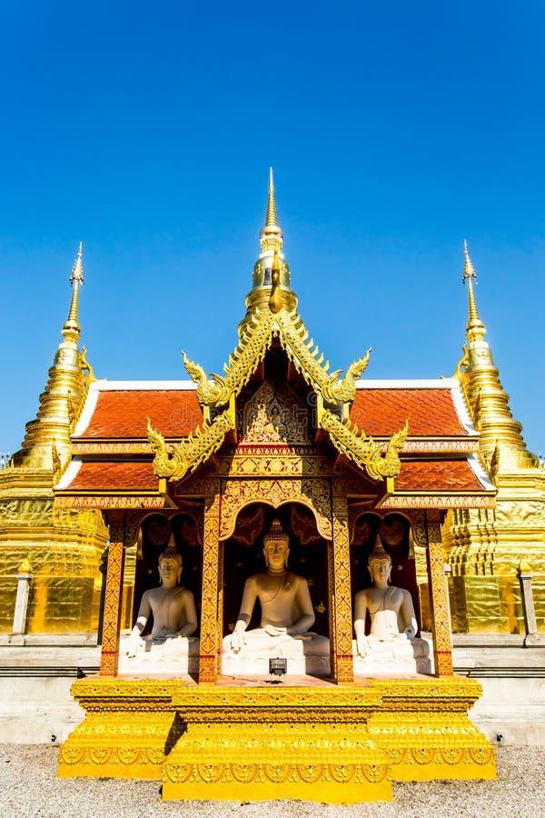 Het standbeeld wat phratajhaduang lumphun Thailand van Boedha royalty-vrije stock afbeelding